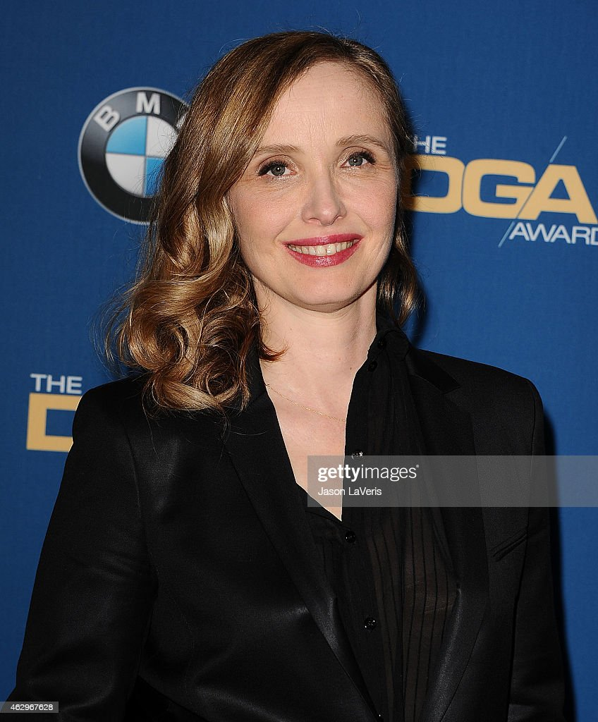 Actress <a gi-track='captionPersonalityLinkClicked' href=/galleries/search?phrase=Julie+Delpy&family=editorial&specificpeople=201914 ng-click='$event.stopPropagation()'>Julie Delpy</a> poses in the press room at the 67th annual Directors Guild of America Awards at the Hyatt Regency Century Plaza on February 7, 2015 in Los Angeles, California.