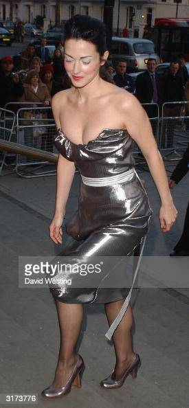 Actress Julie Dreyfuss attends the Vivienne Westwood Private View of new retrospective show at the VA Museum on March 30 2004 in London The show...