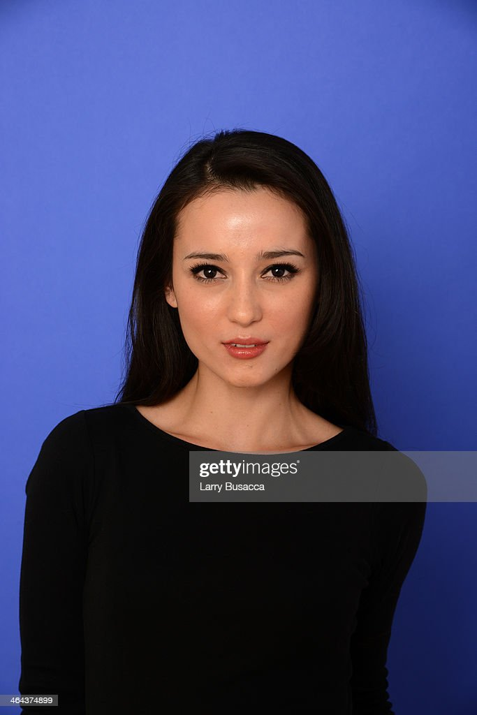 Actress <a gi-track='captionPersonalityLinkClicked' href=/galleries/search?phrase=Julie+Estelle&family=editorial&specificpeople=12383123 ng-click='$event.stopPropagation()'>Julie Estelle</a> poses for a portrait during the 2014 Sundance Film Festival at the Getty Images Portrait Studio at the Village At The Lift Presented By McDonald's McCafe on January 22, 2014 in Park City, Utah.