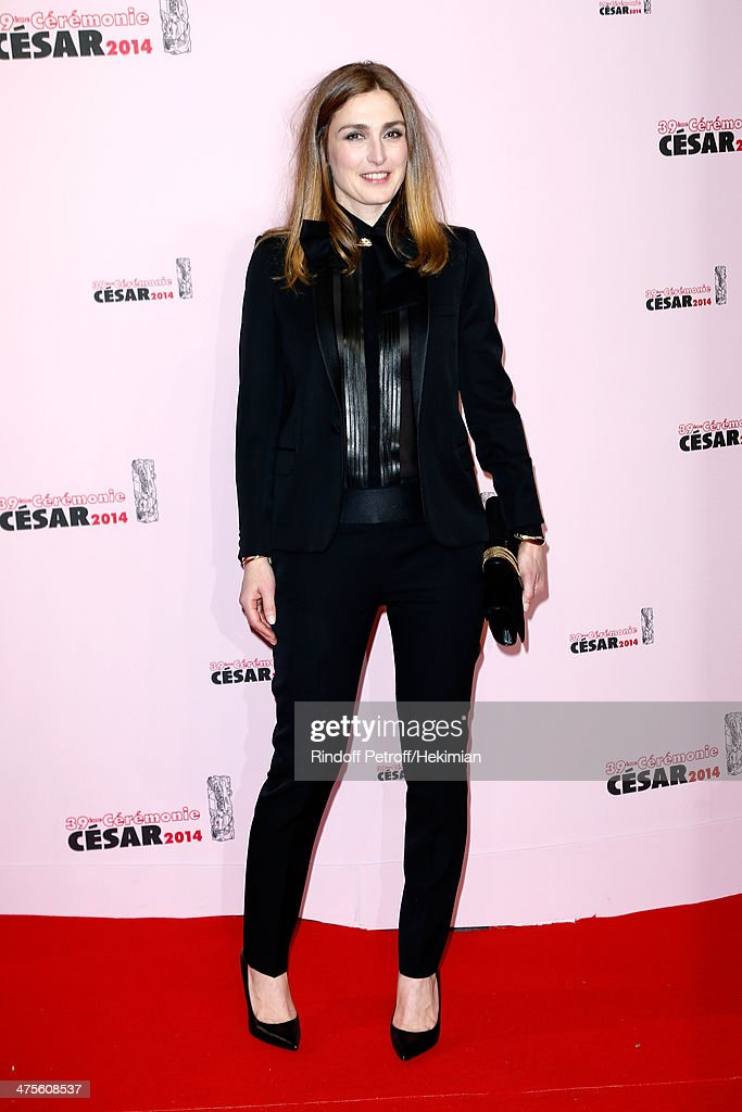 Actress Julie Gayet arrives for the 39th Cesar Film Awards 2014 at Theatre du Chatelet on February 28, 2014 in Paris, France.