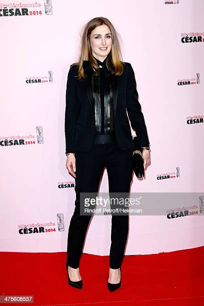 Actress Julie Gayet arrives for the 39th Cesar Film Awards 2014 at Theatre du Chatelet on February 28 2014 in Paris France