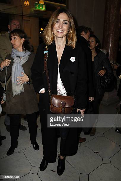 Actress Julie Gayet attends 'Les Chatouilles ou La Danse de la Colere' Theater Play at Theatre du Chatelet on October 19 2016 in Paris France
