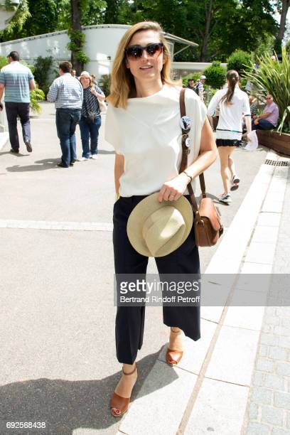 Actress Julie Gayet attends the 2017 French Tennis Open Day Height at Roland Garros on June 4 2017 in Paris France