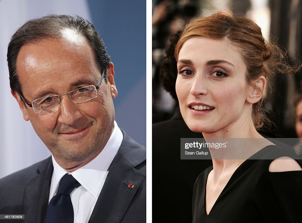 In this composite image a comparison has been made between Francois Hollande (L) and <a gi-track='captionPersonalityLinkClicked' href=/galleries/search?phrase=Julie+Gayet&family=editorial&specificpeople=221651 ng-click='$event.stopPropagation()'>Julie Gayet</a>. CANNES, FRANCE - MAY 12: Actress <a gi-track='captionPersonalityLinkClicked' href=/galleries/search?phrase=Julie+Gayet&family=editorial&specificpeople=221651 ng-click='$event.stopPropagation()'>Julie Gayet</a> attends the premiere of the film 'Match Point' at the Palais during the 58th International Cannes Film Festival May 12, 2005 in Cannes, France.