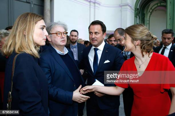 Actress Julie Gayet Dominique Besnehard Prime Minister of Luxembourg Xavier Bettel and GrandeDuchesse Heritiere Stephanie De Luxembourg attend the...
