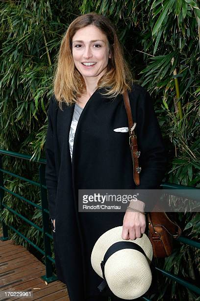 Actress Julie Gayet sighting at the Roland Garros Tennis French Open 2013 Day 15 on June 9 2013 in Paris France