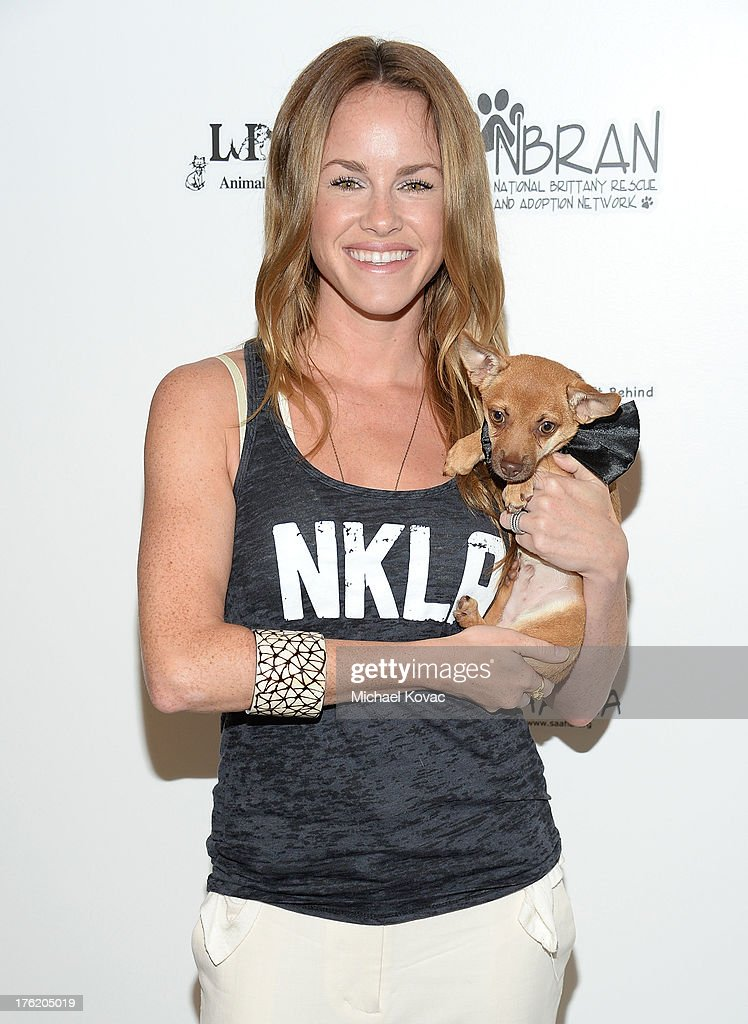 Actress Julie Marie Berman attends the NKLA Pet Adoption Center Opening Celebration at the NKLA Pet Adoption Center on August 11, 2013 in Los Angeles, California.
