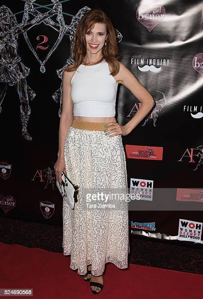 Actress Julie McNiven attends the 2nd Annual Artemis Film FestivalRed Carpet Opening Night/Awards Presentation at Ahrya Fine Arts Movie Theater on...