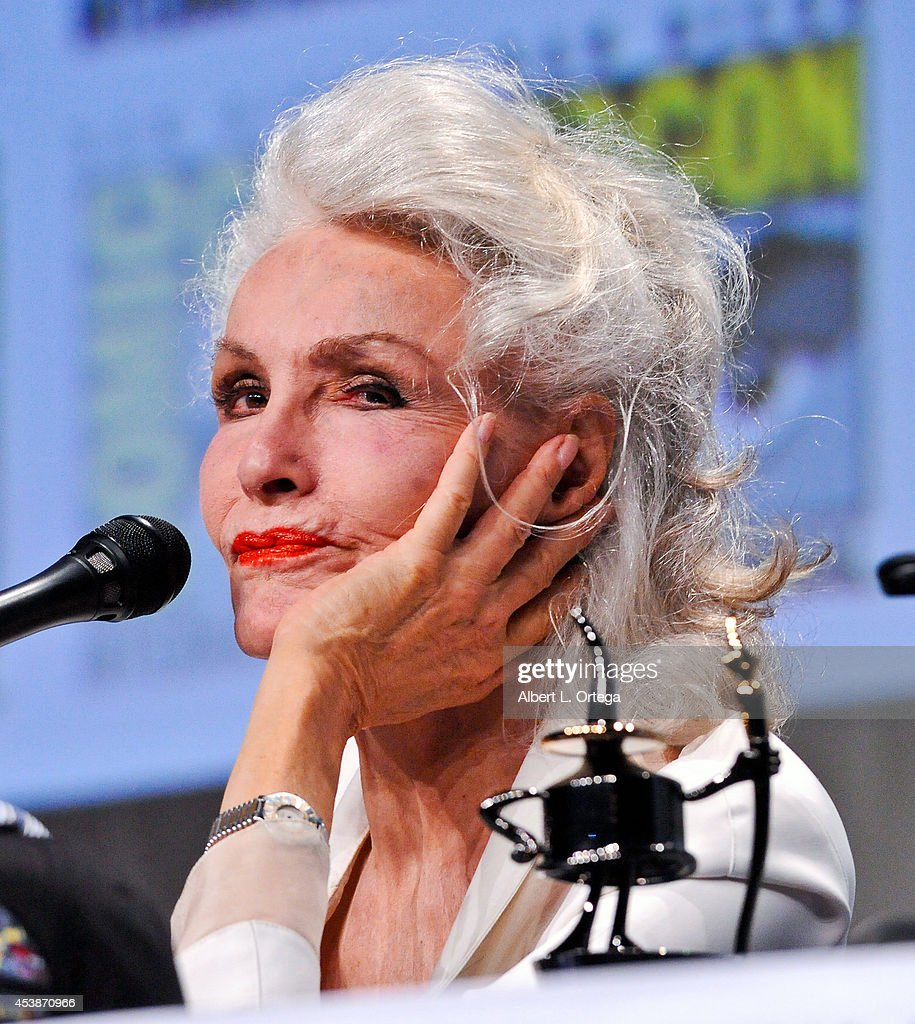 Actress Julie Newmar is honored with an Ink Pot Award at the 'Batman: The Complete Series' panel on Thursday Day 1 of Comic-Con International 2014 held at San Diego Convention Center on July 24, 2014 in San Diego, California.