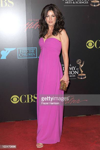 Actress Julie Pinson arrives at the 37th Annual Daytime Entertainment Emmy Awards held at the Las Vegas Hilton on June 27 2010 in Las Vegas Nevada
