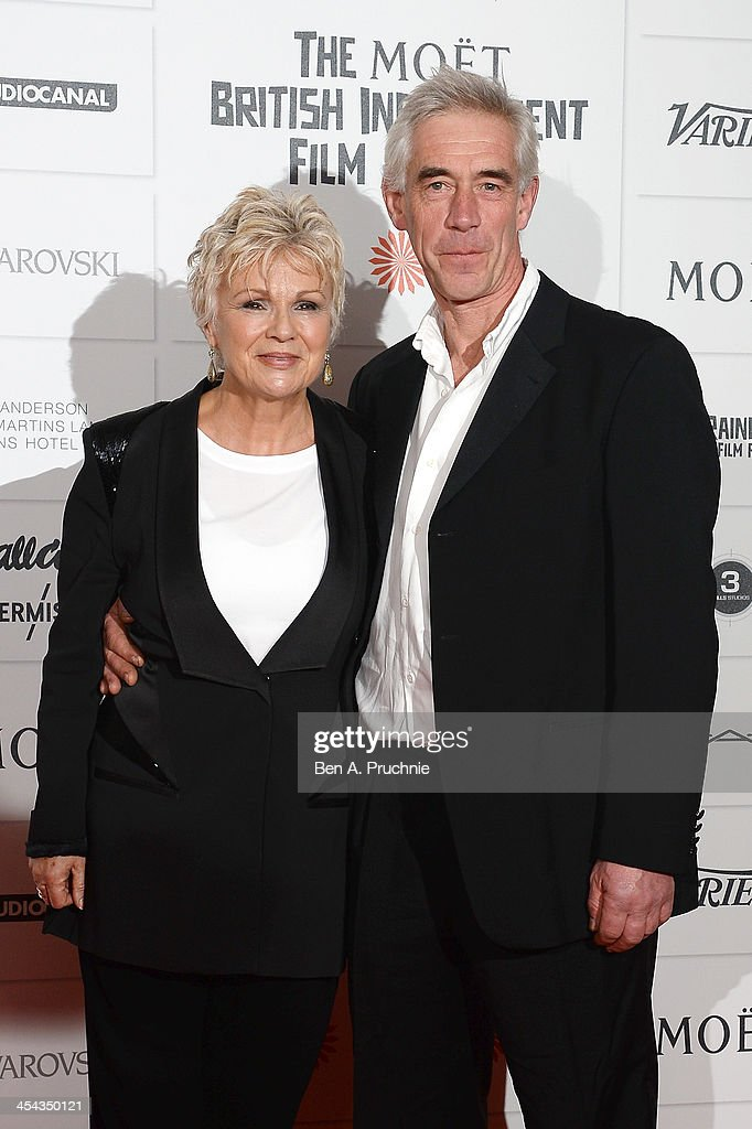 Actress Julie Walters and her husband Grant Roffey arrive on the red carpet for the Moet British Independent Film Awards at Old Billingsgate Market on December 8, 2013 in London, England.