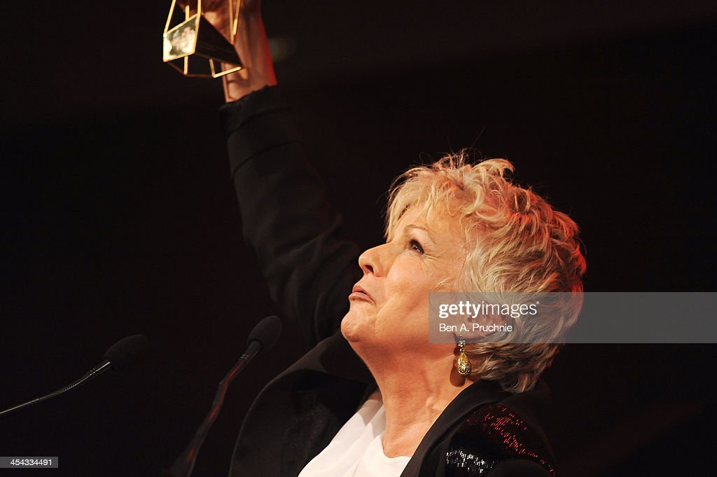 Actress <a gi-track='captionPersonalityLinkClicked' href=/galleries/search?phrase=Julie+Walters&family=editorial&specificpeople=206570 ng-click='$event.stopPropagation()'>Julie Walters</a> receives the Richard Harris Award as she attends the ceremony for the Moet British Independent Film Awards at Old Billingsgate Market on December 8, 2013 in London, England.