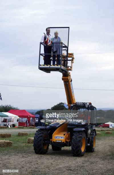 Actress Julie Walters starts the British Lawn Mower Racing Association 12 hour British Lawn mower endurance race near Billingshurst Sussex