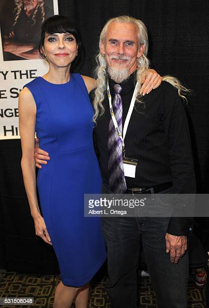 Actress Juliet Landau and actor Camden Toy at the 2016 Whedonopolis Convention held at Airtel Plaza Hotel on May 13 2016 in Van Nuys California