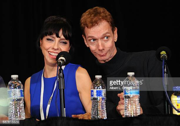Actress Juliet Landau and actor Doug Jones at the 2016 Whedonopolis Convention held at Airtel Plaza Hotel on May 13 2016 in Van Nuys California