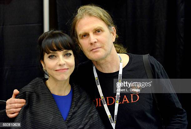 Actress Juliet Landau and husband Devrill Weeks at the 2016 Whedonopolis Convention held at Airtel Plaza Hotel on May 13 2016 in Van Nuys California