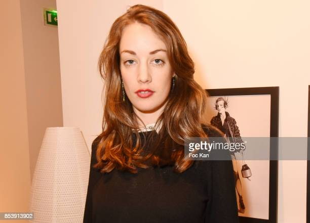Actress Juliette Besson attends Avellino Cocktail Party at Avellino Store Rue de Richelieu on September 25 2017 in Paris France