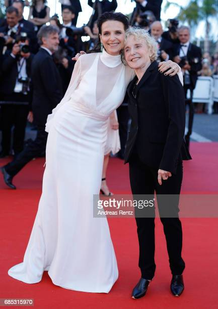 Actress Juliette Binoche and director Claire Denis of 'Let the Sunshine In' attend the 'Okja' screening during the 70th annual Cannes Film Festival...