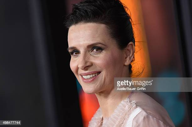 Actress Juliette Binoche arrives at the AFI FEST 2015 Presented By Audi Centerpiece Gala Premiere of 'The 33' at TCL Chinese Theatre on November 9...