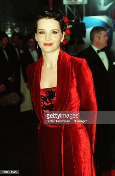 Actress Juliette Binoche arrives at the Grosvenor House Hotel for the 50th BAFTA award ceremony
