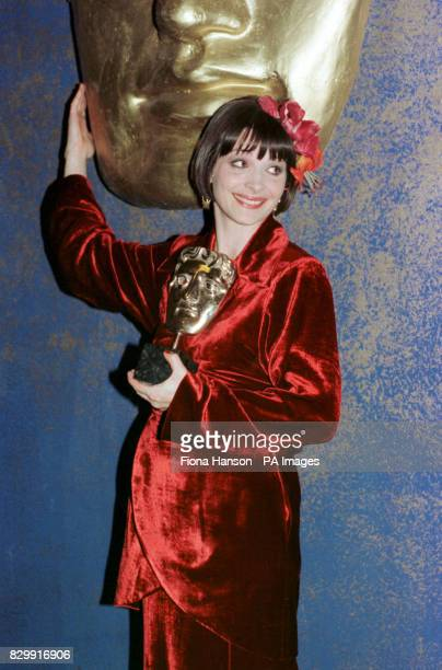 Actress Juliette Binoche at the BAFTA Award ceremony at the Royal Albert Hall where she won Best Supporting Actress for her role in The English...