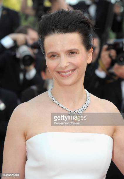Actress Juliette Binoche attend the Palme d'Or Closing Ceremony held at the Palais des Festivals during the 63rd Annual International Cannes Film...