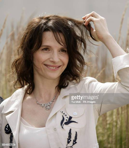 Actress Juliette Binoche attending the launch of the new dance theatre and film collaboration 'Ju' bi lation' at Olivier Stalls Foyer National...