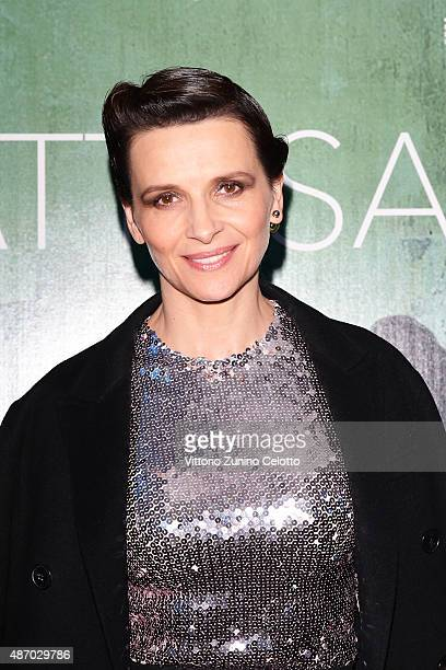 Actress Juliette Binoche attends a cocktail reception for 'The Wait' hosted by Tiffany Co during the 72nd Venice Film Festival at Terrazza Biennale...