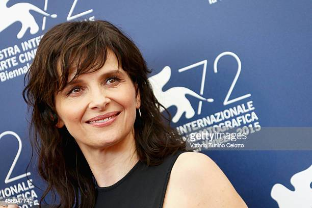 Actress Juliette Binoche attends a photocall for 'The Wait' during the 72nd Venice Film Festival at Palazzo del Casino on September 5 2015 in Venice...