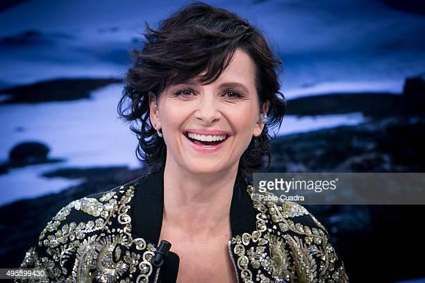 Actress Juliette Binoche attends 'El Hormiguero' Tv Show on November 2 2015 in Madrid Spain