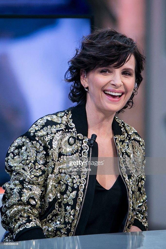 Juliette Binoche Attends 'El Hormiguero' Tv Show