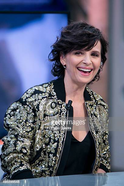 Actress Juliette Binoche attends 'El Hormiguero' Tv Show on November 2 2015 in Madrid Spain