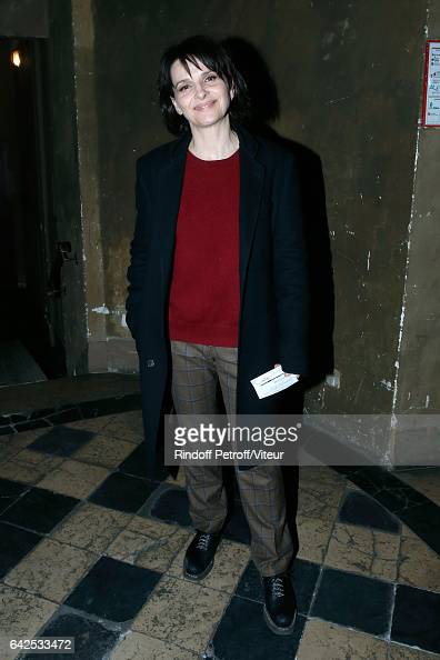 Actress Juliette Binoche attends Gerard Depardieu sings Barbara accompanied on the piano of Barbara by Gerard Daguere who was his Pianist for more...
