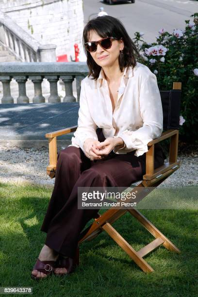 Actress Juliette Binoche attends the 10th Angouleme FrenchSpeaking Film Festival Day Five on August 26 2017 in Angouleme France