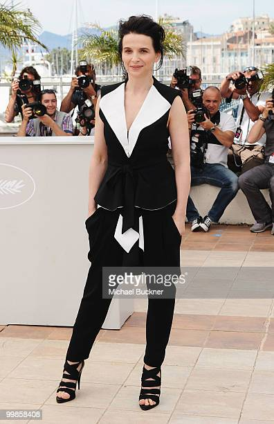 Actress Juliette Binoche attends the 'Certified Copy' Photocall at the Palais des Festivals during the 63rd Annual Cannes Film Festival on May 18...