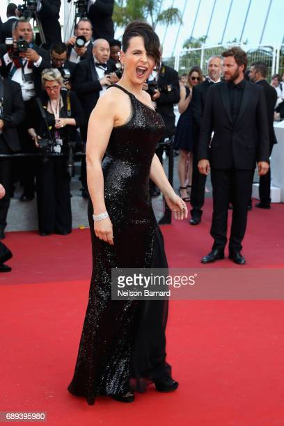 Actress Juliette Binoche attends the Closing Ceremony during the 70th annual Cannes Film Festival at Palais des Festivals on May 28 2017 in Cannes...