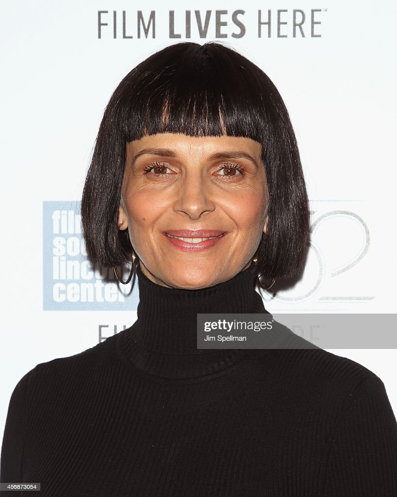 Actress <a gi-track='captionPersonalityLinkClicked' href=/galleries/search?phrase=Juliette+Binoche&family=editorial&specificpeople=209273 ng-click='$event.stopPropagation()'>Juliette Binoche</a> attends the 'Clouds Of Sils Maria', 'Merchants Of Doubt' & 'Silvered Water' screenings during the 52nd New York Film Festival at Alice Tully Hall on October 8, 2014 in New York City.