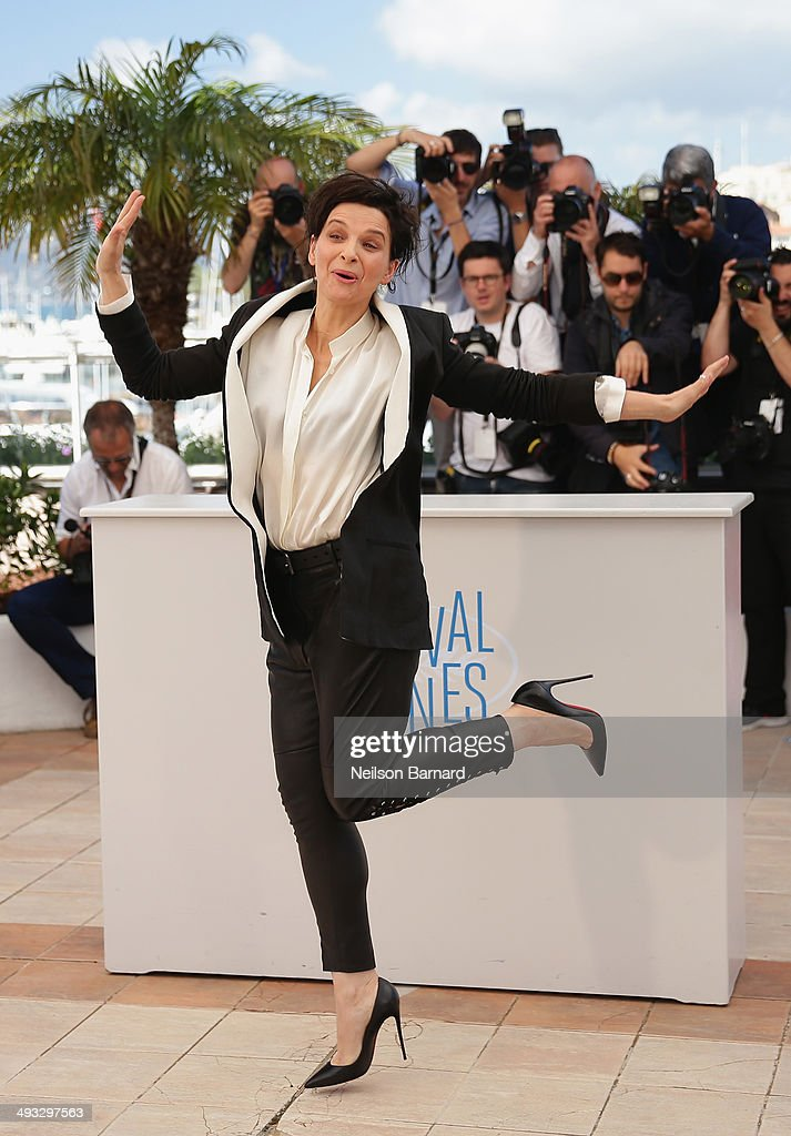 Actress Juliette Binoche attends the 'Clouds Of Sils Maria' photocall during the 67th Annual Cannes Film Festival on May 23 2014 in Cannes France