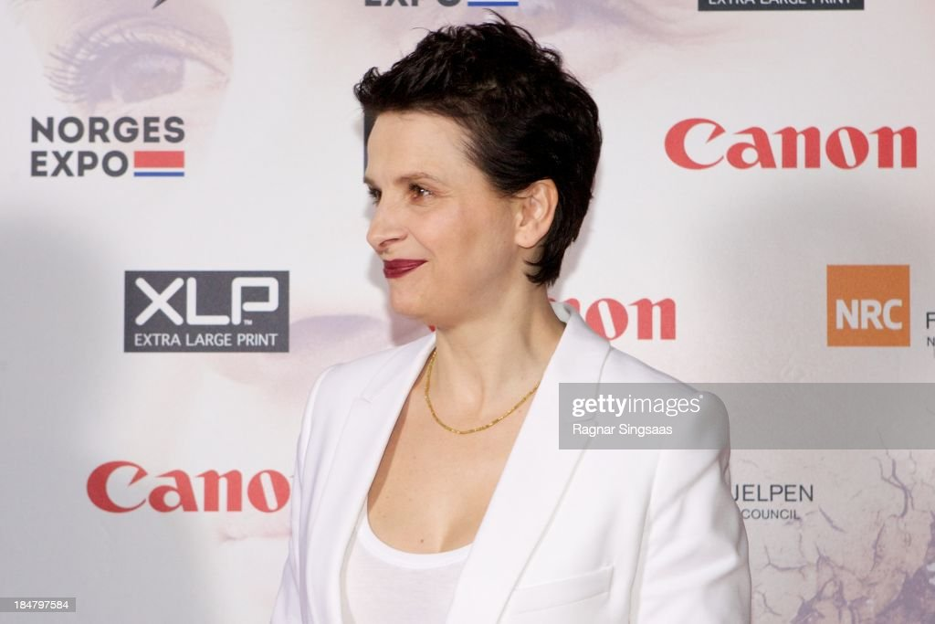 Actress Juliette Binoche attends the Oslo premiere of 'A Thousand Times Good Night' at Colosseum on October 16, 2013 in Oslo, Norway.