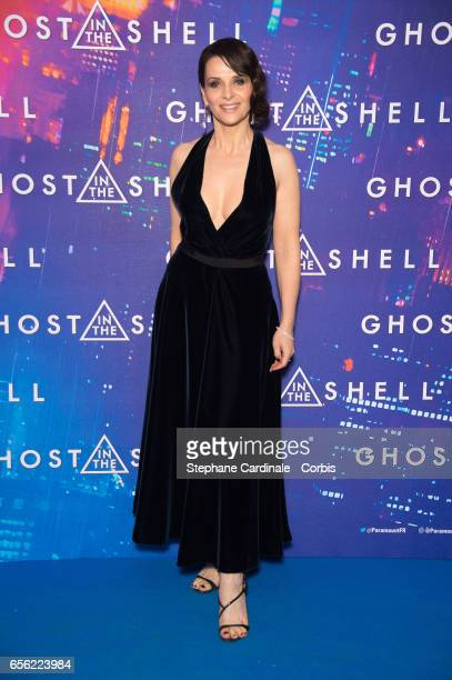 Actress Juliette Binoche attends the Paris Premiere of the Paramount Pictures release 'Ghost In The Shell' at Le Grand Rex on March 21 2017 in Paris...