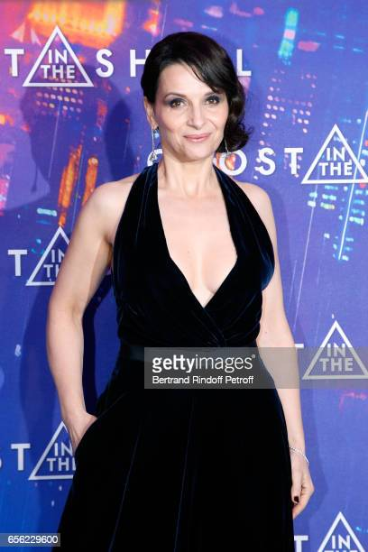 Actress Juliette Binoche attends the Paris Premiere of the Paramount Pictures release 'Ghost in the Shell' Held at Le Grand Rex on March 21 2017 in...