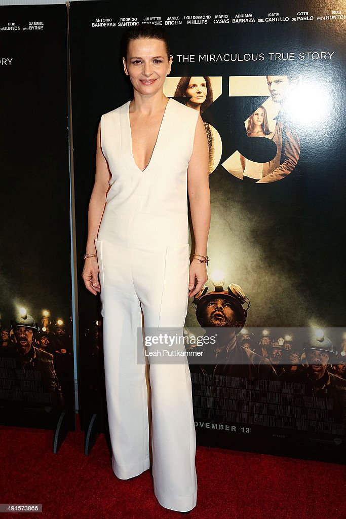 Actress Juliette Binoche attends the Washington DC premiere of 'The 33' at The Newseum on October 27 2015 in Washington DC