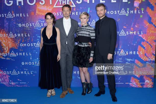 Actress Juliette Binoche director Rupert Sanders actors Scarlett Johansson and Pilou Asbaek attends the Paris Premiere of the Paramount Pictures...