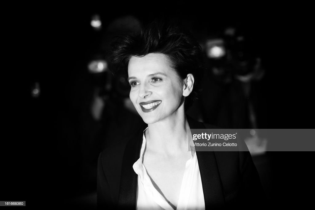 Actress <a gi-track='captionPersonalityLinkClicked' href=/galleries/search?phrase=Juliette+Binoche&family=editorial&specificpeople=209273 ng-click='$event.stopPropagation()'>Juliette Binoche</a> during the 63rd Berlinale International Film Festival at Berlinale Palast on February 12, 2013 in Berlin, Germany.
