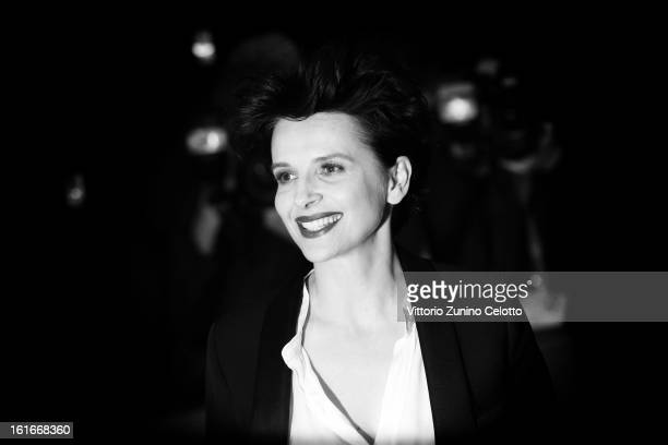 Actress Juliette Binoche during the 63rd Berlinale International Film Festival at Berlinale Palast on February 12 2013 in Berlin Germany