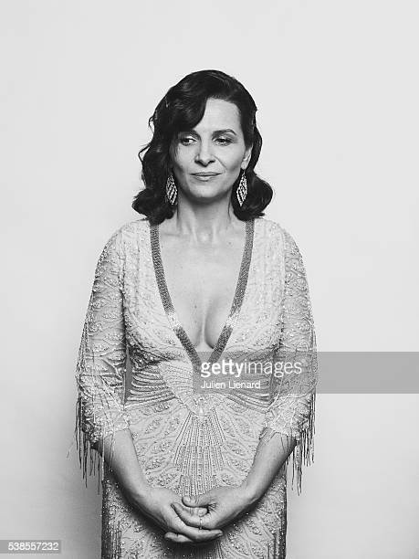 Actress Juliette Binoche is photographed for Self Assignment on May 11 2016 in Cannes France