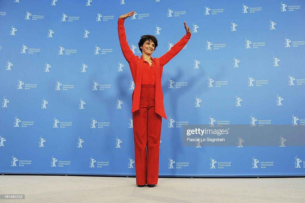 Actress Juliette Binoche poses for photographers as sh eattends the 'Camille Claudel 1915' Photocall during the 63rd Berlinale International Film Festival at the Grand Hyatt Hotel on February 12, 2013 in Berlin, Germany.