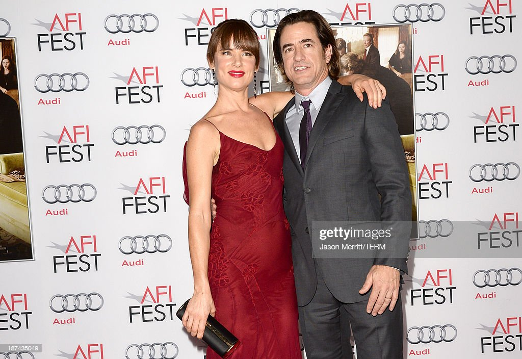 Actress Juliette Lewis and actor Dermot Mulroney attend the premiere of The Weinstein Company's 'August: Osage County' during AFI FEST 2013 presented by Audi at TCL Chinese Theatre on November 8, 2013 in Hollywood, California.