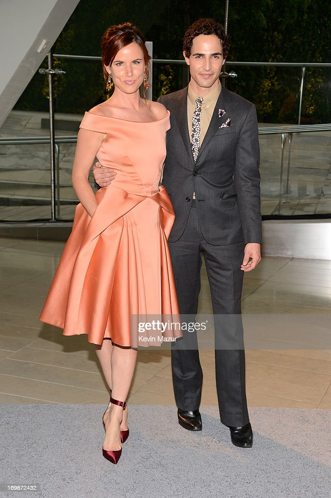 Actress Juliette Lewis (L) and designer Zac Posen attend 2013 CFDA Fashion Awards at Alice Tully Hall on June 3, 2013 in New York City.