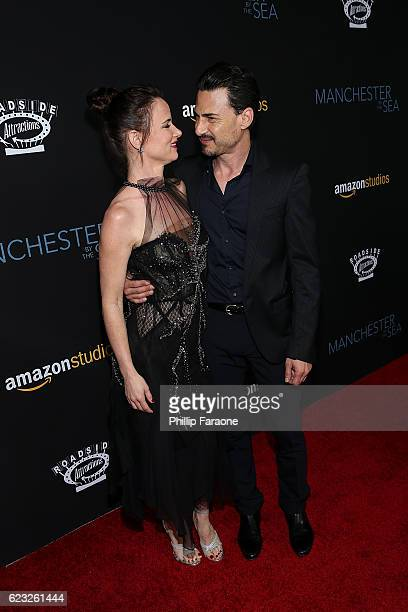 Actress Juliette Lewis and musician Brad Wilk attend the premiere of Amazon Studios' 'Manchester By The Sea' at Samuel Goldwyn Theater on November 14...